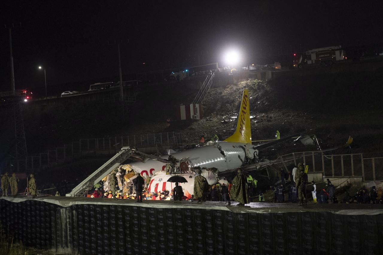 Plane accident in Istanbul