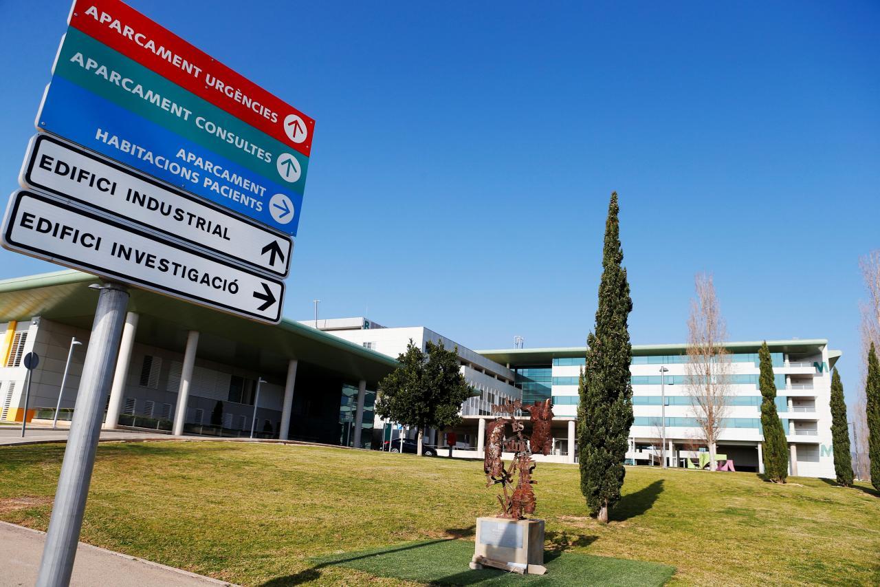 General view of the Son Espases hospital, where a case of coronavirus has been detected, in Palma de Mallorca