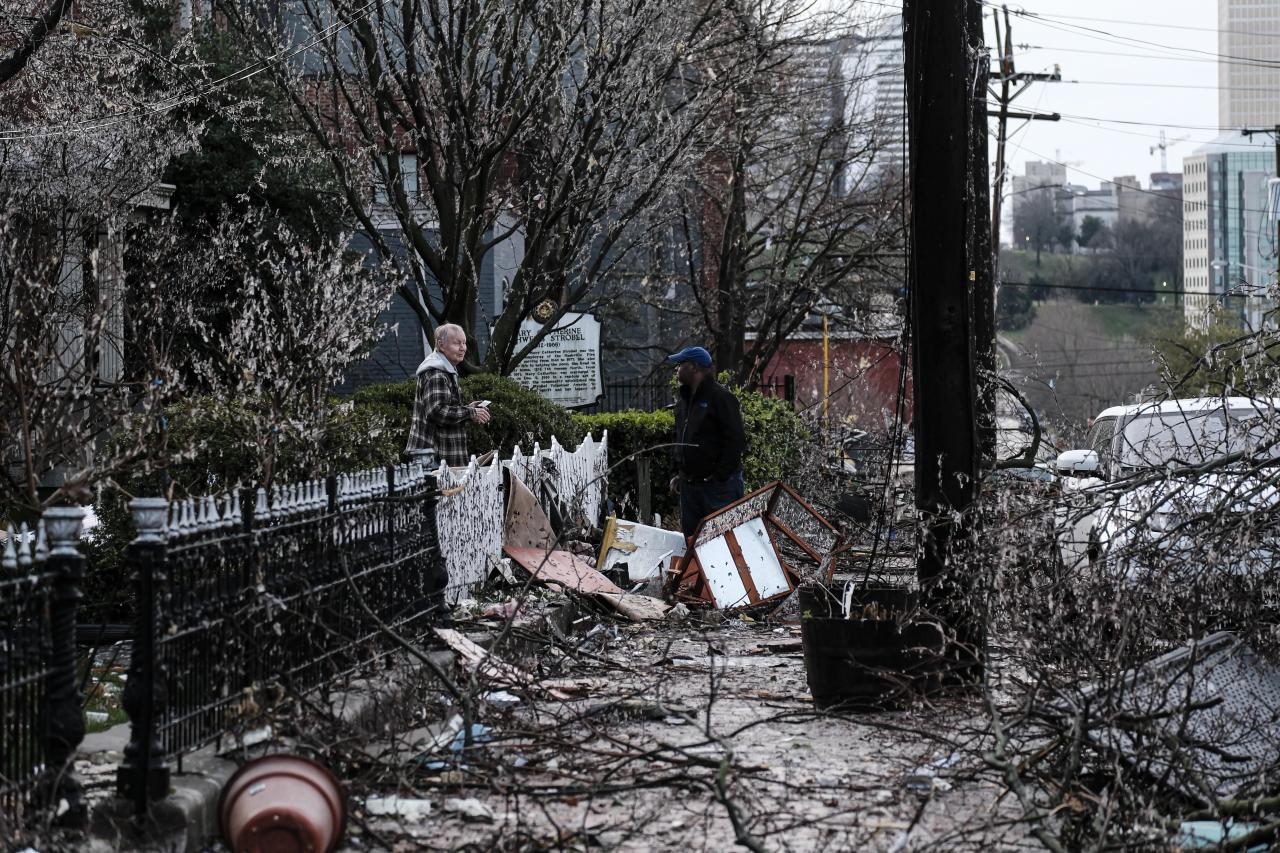 Los tornados han causado daños muy importantes en Tennessee