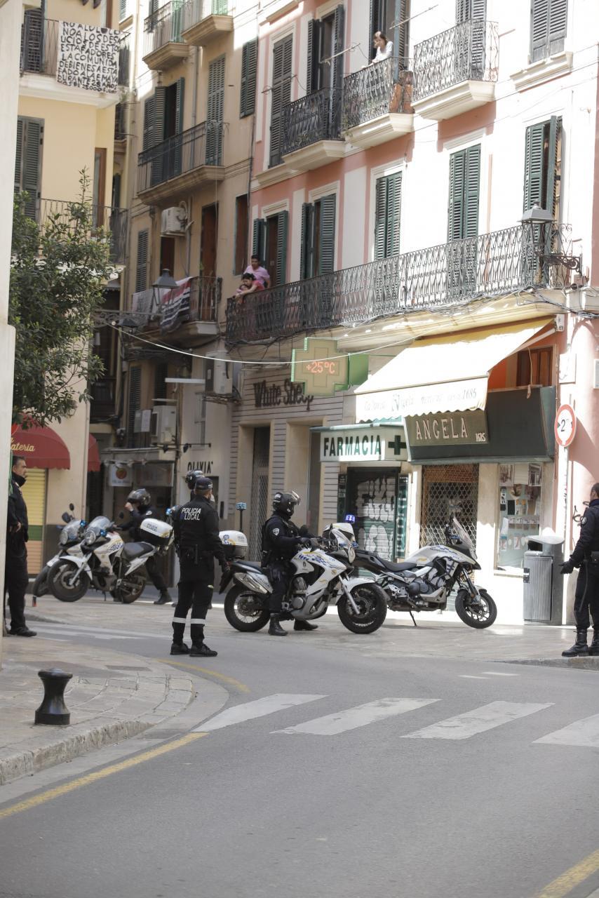 palma intervencion policial en calle colon - coronavirus foto miquel