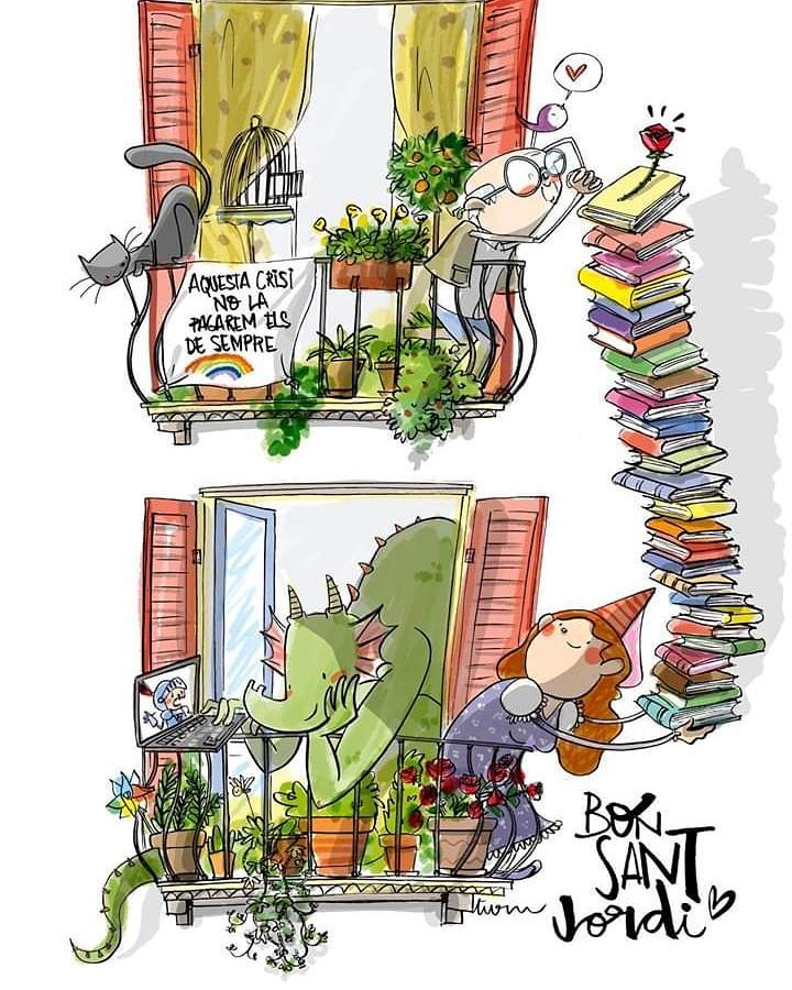 Estado de alarma: Sant Jordi confinado, un Día del Libro diferente