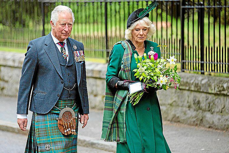 Britain's Prince of Wales and Camilla attend VE Day 75th Anniversary in Balmoral