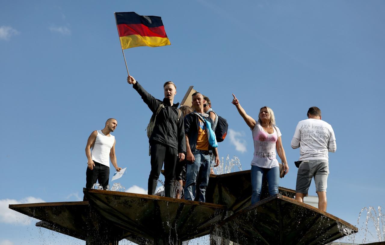 Protest during the coronavirus disease (COVID-19) outbreak in Berlin