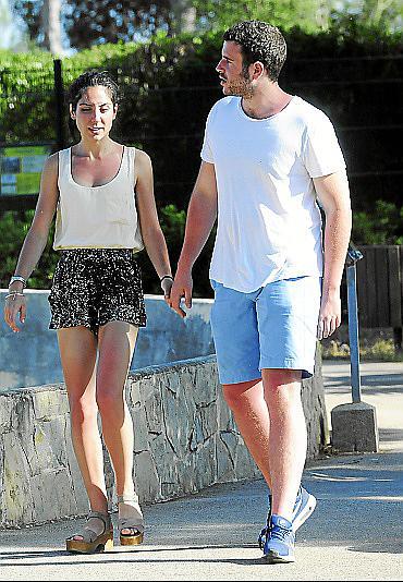 Alessandro Lequio Jr. y su novia, Cristina Uceda, visitaron el safari cercano a sa Coma.Ôø?