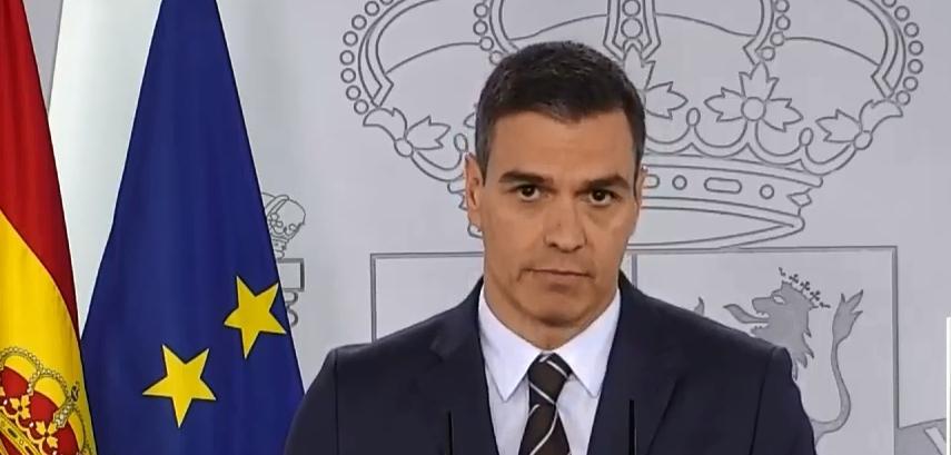 Pedro Sánchez comparece en rueda de prensa en la Moncloa