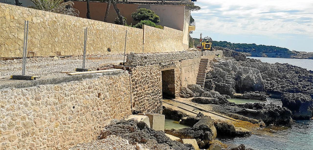 Los paseos de Cala Rajada destrozados por el 'Gloria' serán transitables a principios de julio