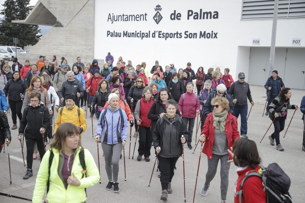 PALMA - Gran participación en la Nordic Walking de Sant Sebastià 2020.