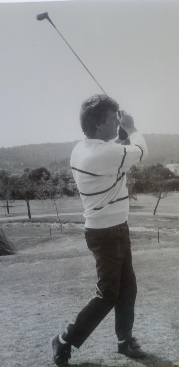 El golf era una de sus grandes pasiones