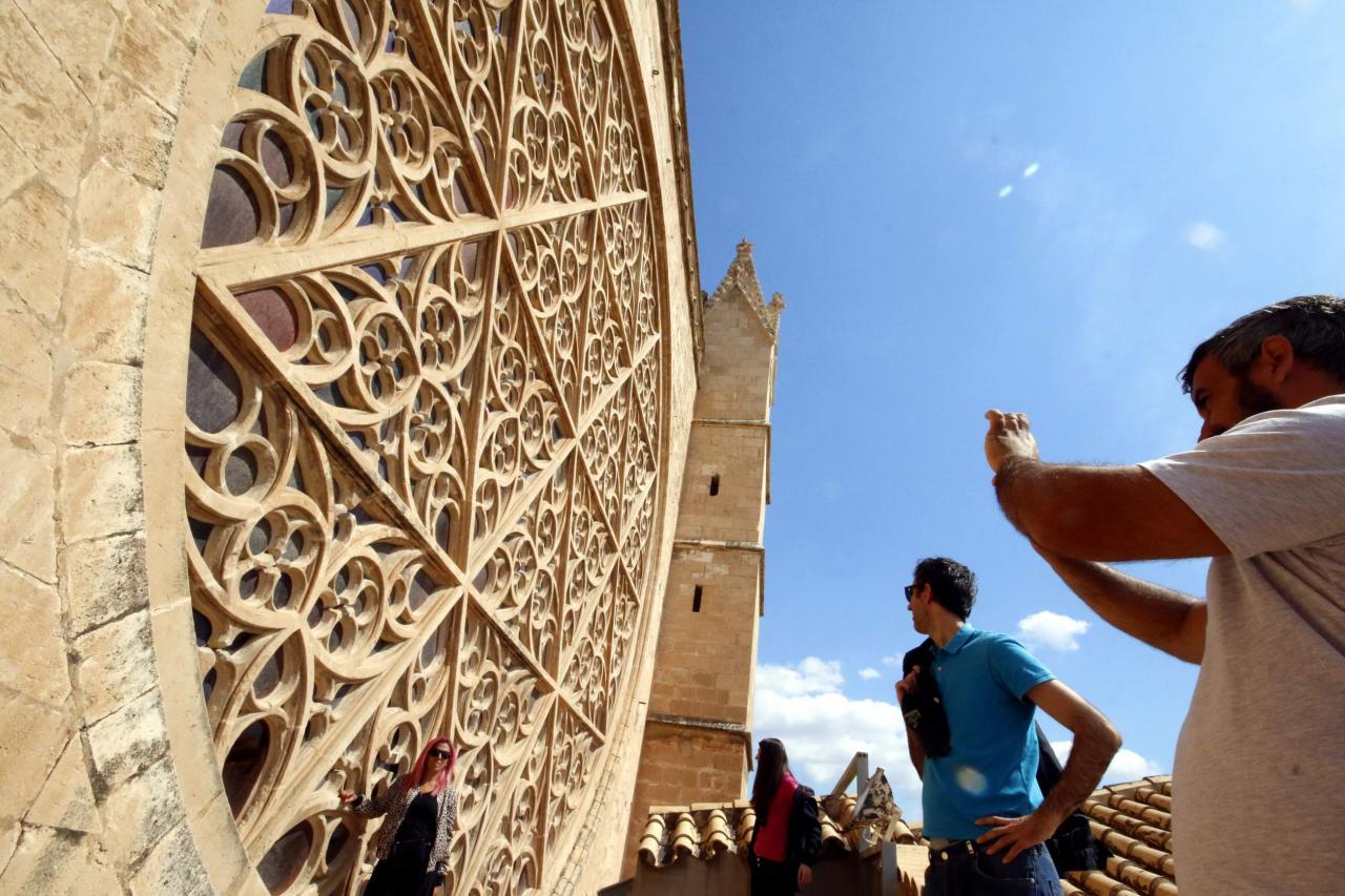 terrazas de la catedral la seu vistas