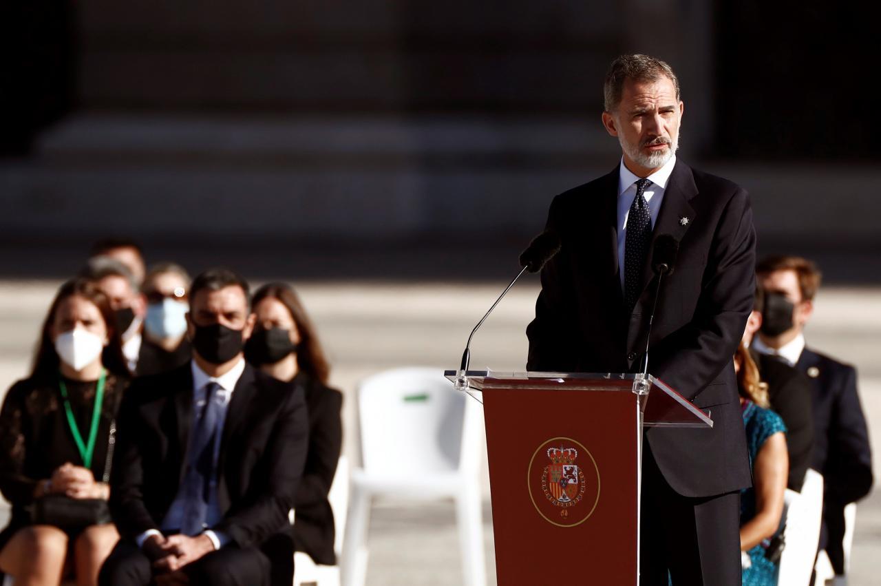 El Rey, en el homenaje de Estado: «Tenemos la obligación moral de respetar la dignidad de los fallecidos»