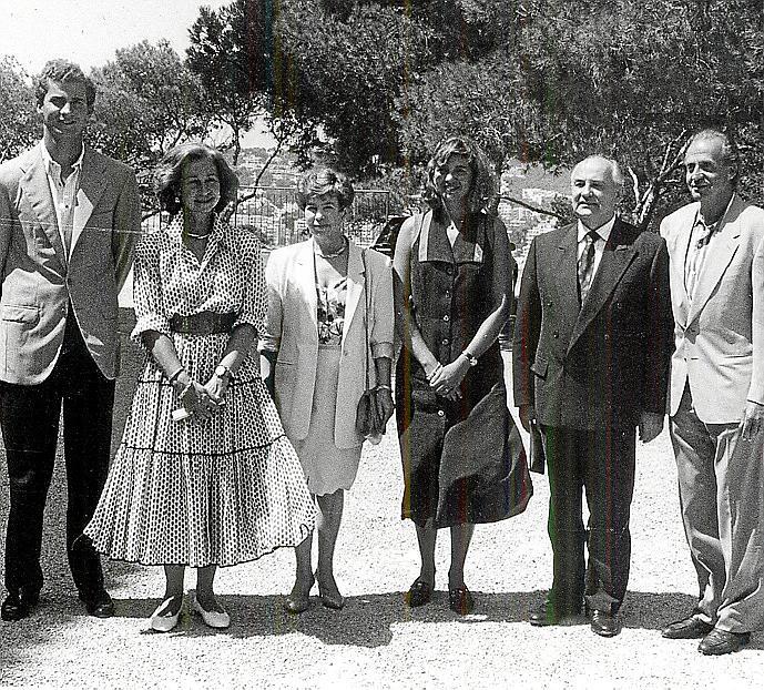 VISITA A MALLORCA DEL PRESIDENTE DE LA URSS MIJAIL GORBACHOV CON SU ESPOSA EN AGOSTO DE 1992.