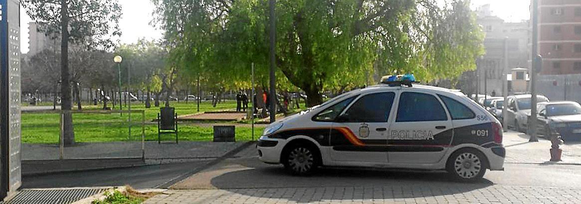 Tres jóvenes detenidos por apuñalar con un punzón a un hombre en un parque de Palma.