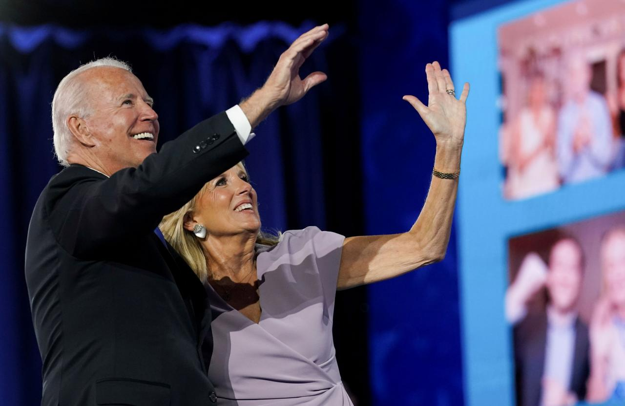 Former U.S. Vice President Joe Biden accepts the 2020 Democratic presidential nomination