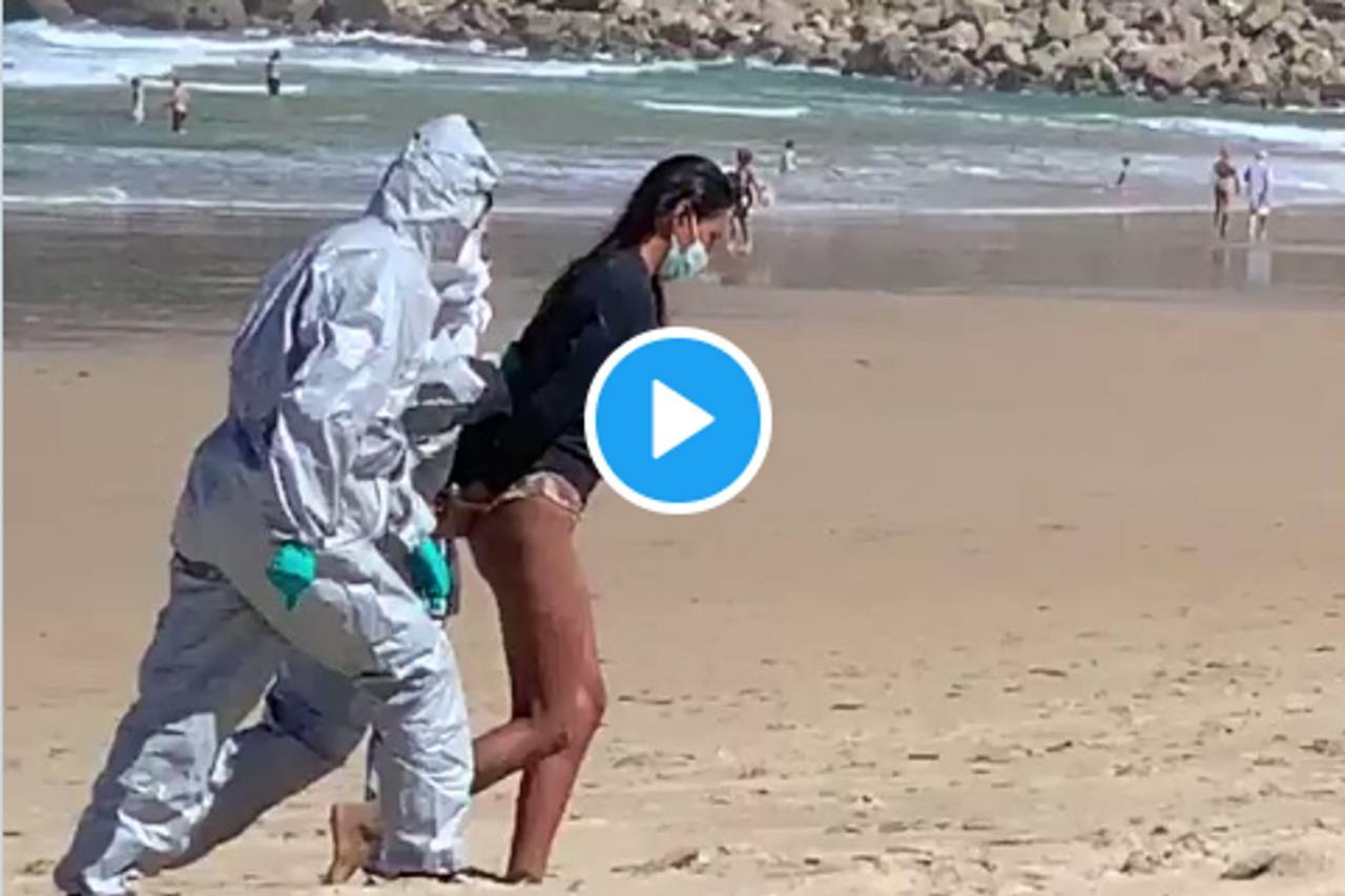 Detenida una mujer que practicaba surf pese a ser positivo en COVID-19