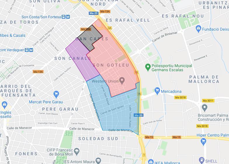 Estas son las calles afectadas por el aislamiento