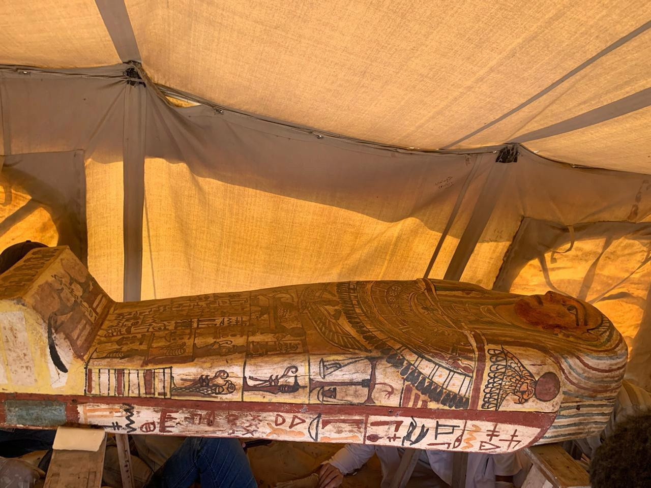 Archaeologists and experts uncover a burial complex in the necropolis of Saqqara