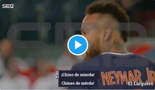 Neymar, sorprendido llamando «chino de mierda» al japonés Sakai
