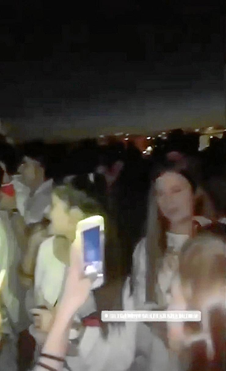 Captura de pantalla de las redes sociales de un momento de la fiesta.