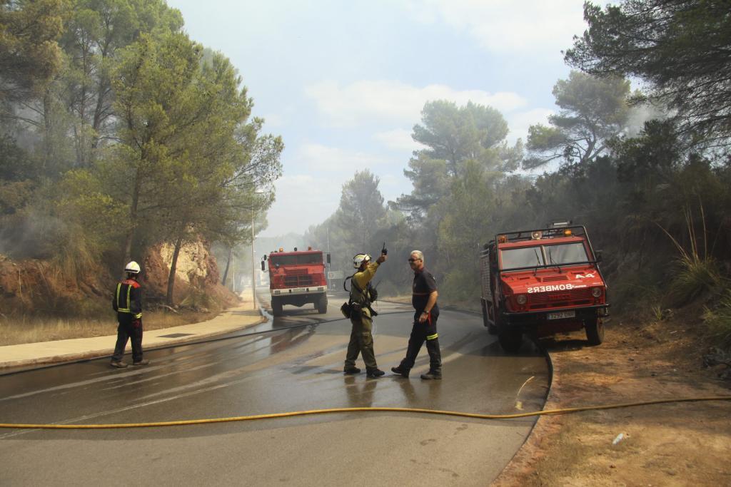 Estabilizados los incendios que afectan a Ciutadella y Son Parc