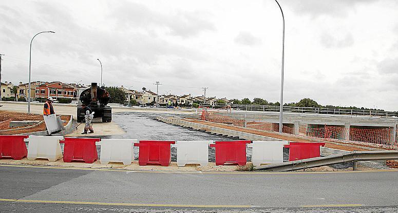Palma nou pont que s'ha fet en la intersecció entre el torrent gros