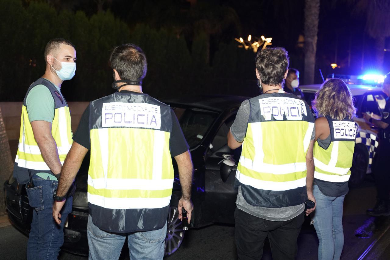 Policía Nacional y Policía Local de Palma
