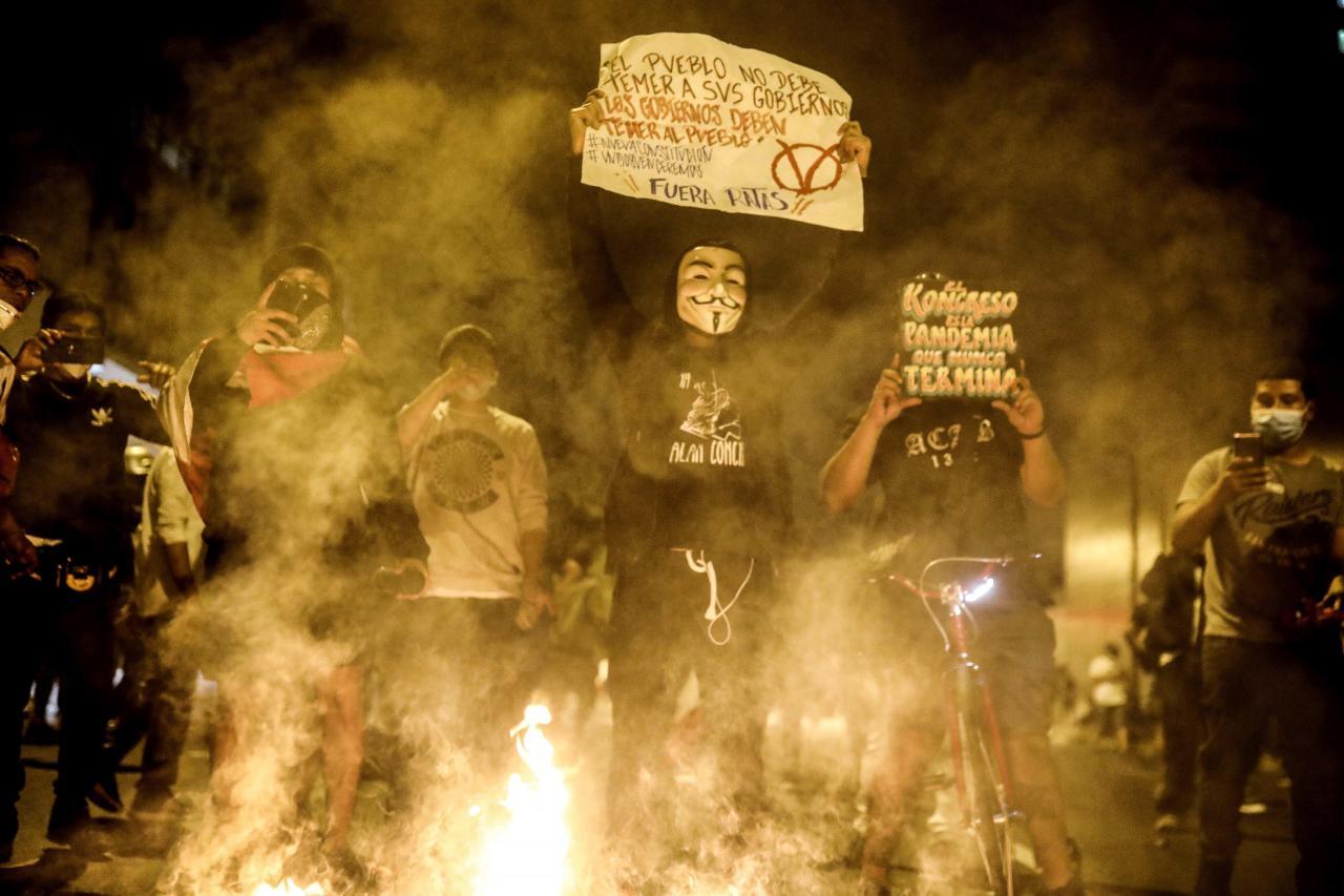 Anti-government protest in Lima, Peru