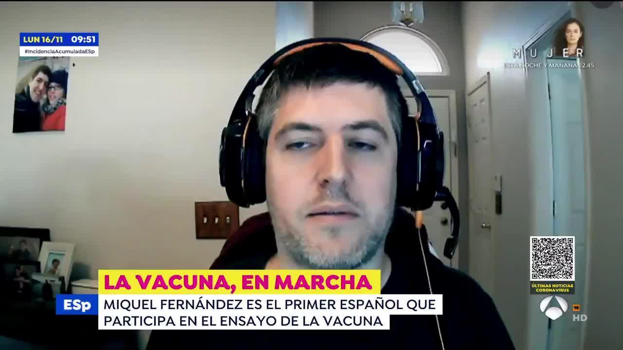 La experiencia de un voluntario español de la vacuna de Pfizer
