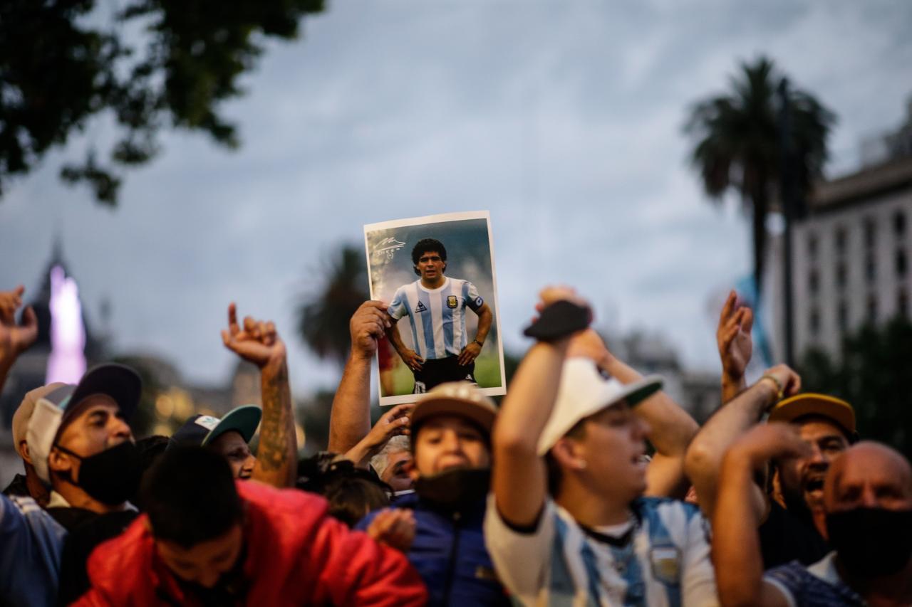 Apertura del velatorio de Diego Armando Maradona