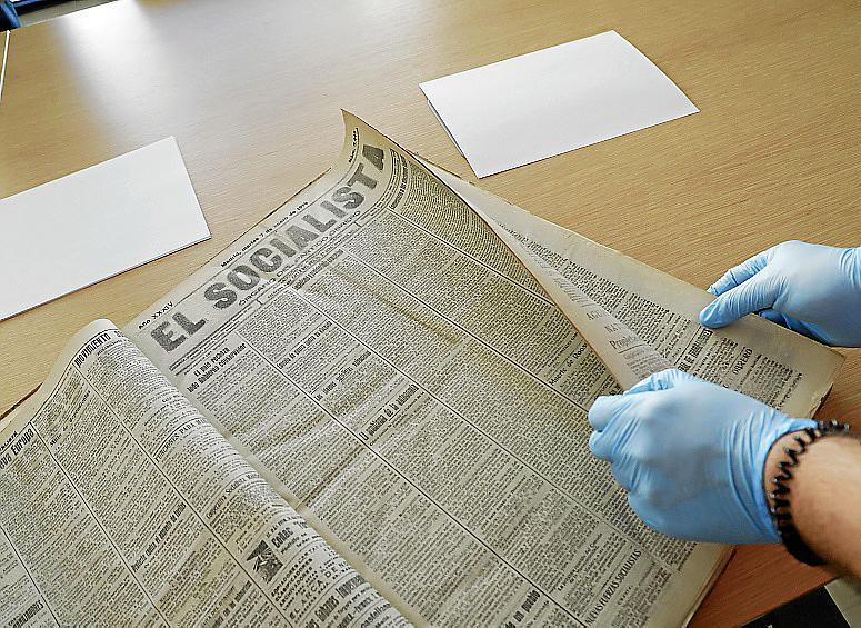 palma reportaje archivos psoe en archiu del regne de mallorca fot