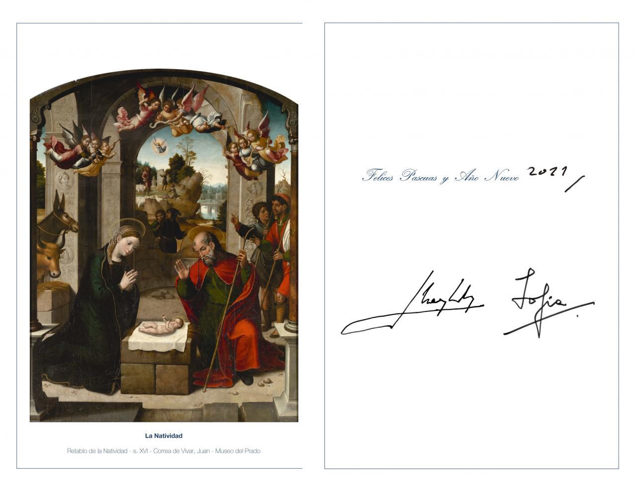 La Casa Real mantiene al rey Juan Carlos en la felicitación navideña