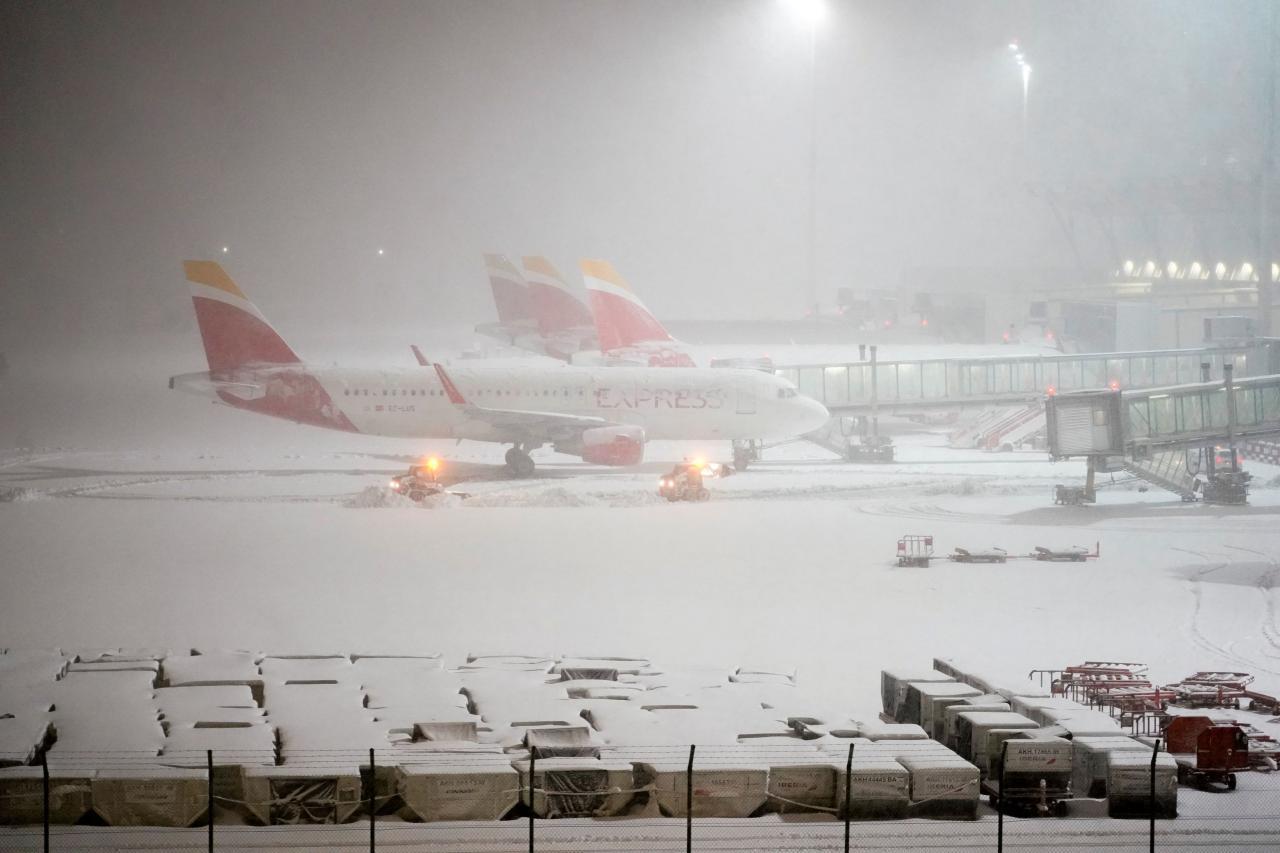 Snowfall in Madrid