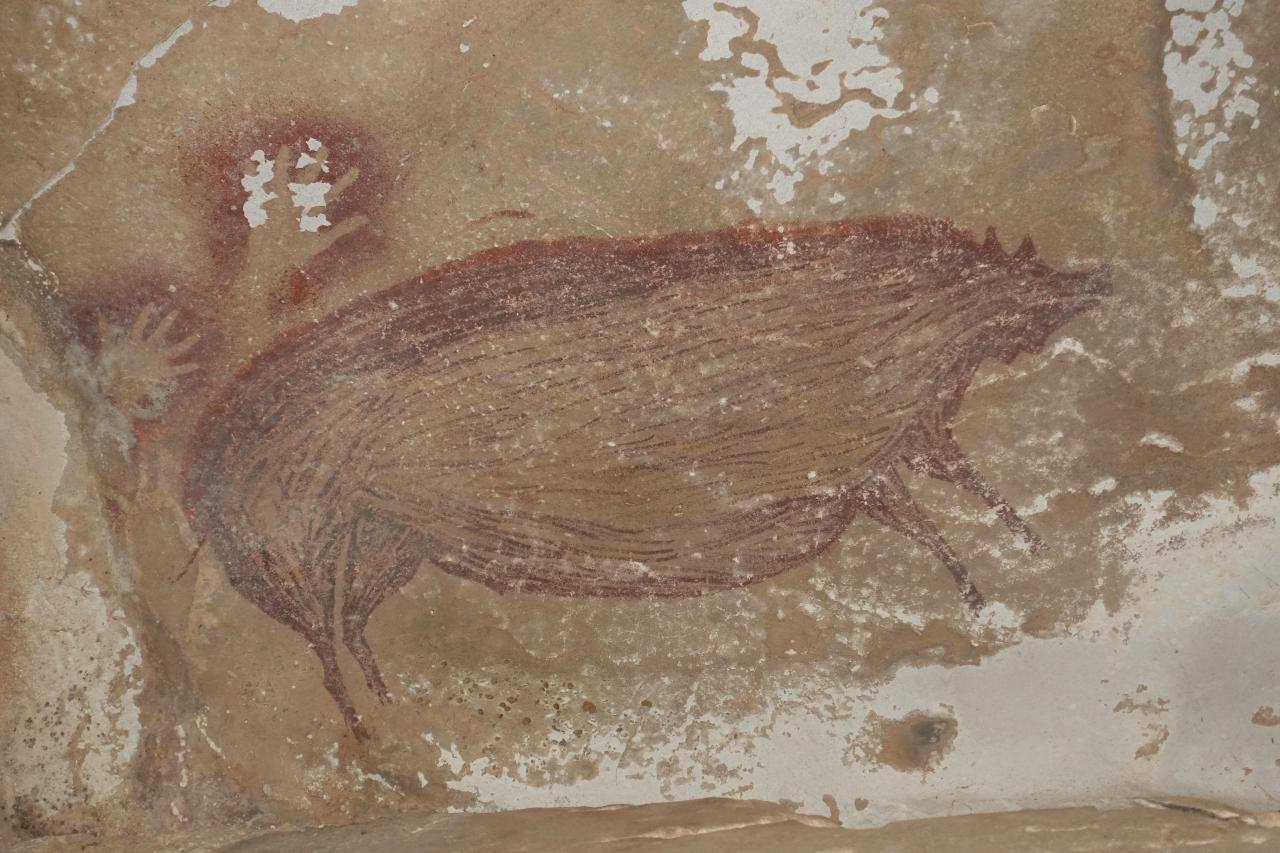 World's oldest animal cave painting found in Indonesia