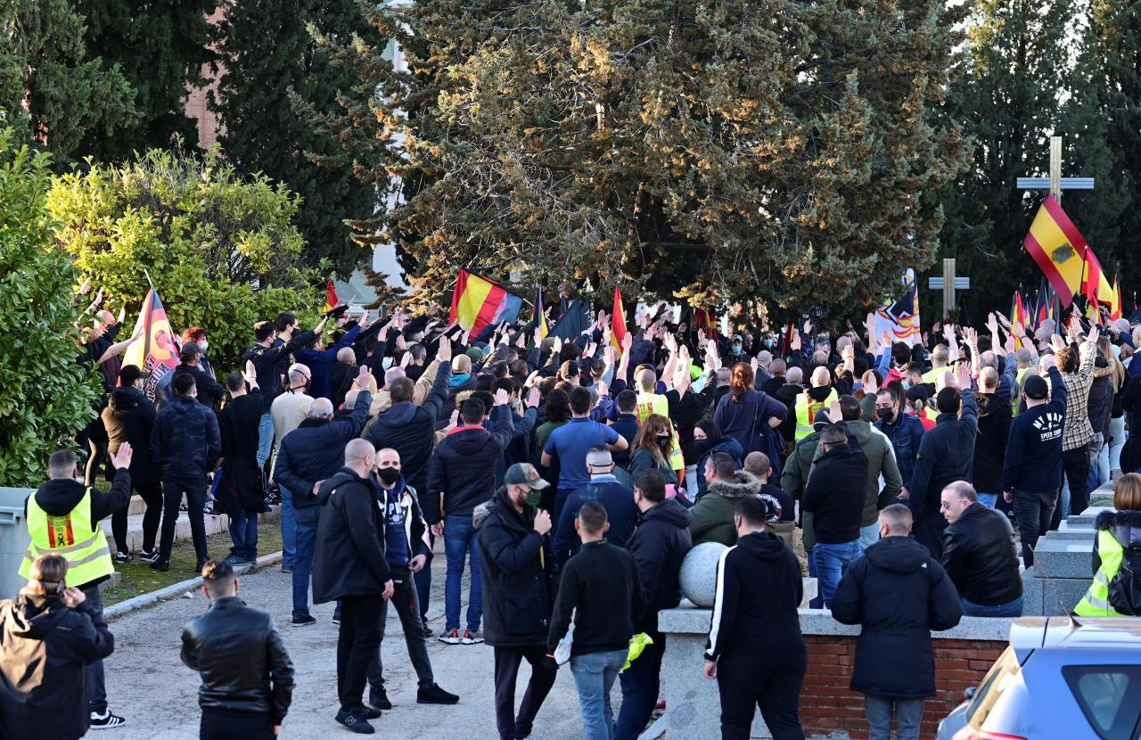 Marcha neonazi en homenaje a los caídos de la División Azul