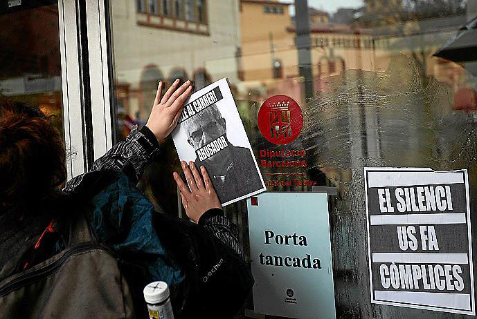 protesta contra los casos de presunto acoso sexual en Institut del Teatre