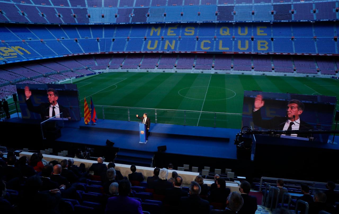 Joan Laporta, inauguration ceremony of the presidency of FC Barcelona