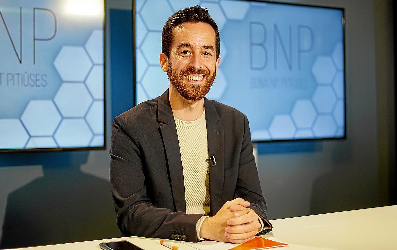 Javier Torres ayer en el plató del pr grama BNP de la TEF.