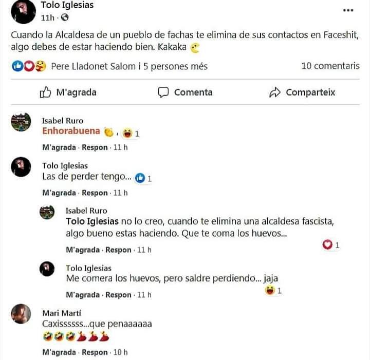 La alcaldesa de Campos denuncia ante la Guardia Civil amenazas de muerte por redes