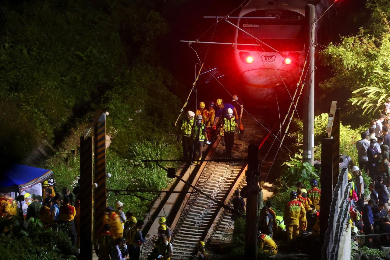 Train derailment in eastern Taiwan