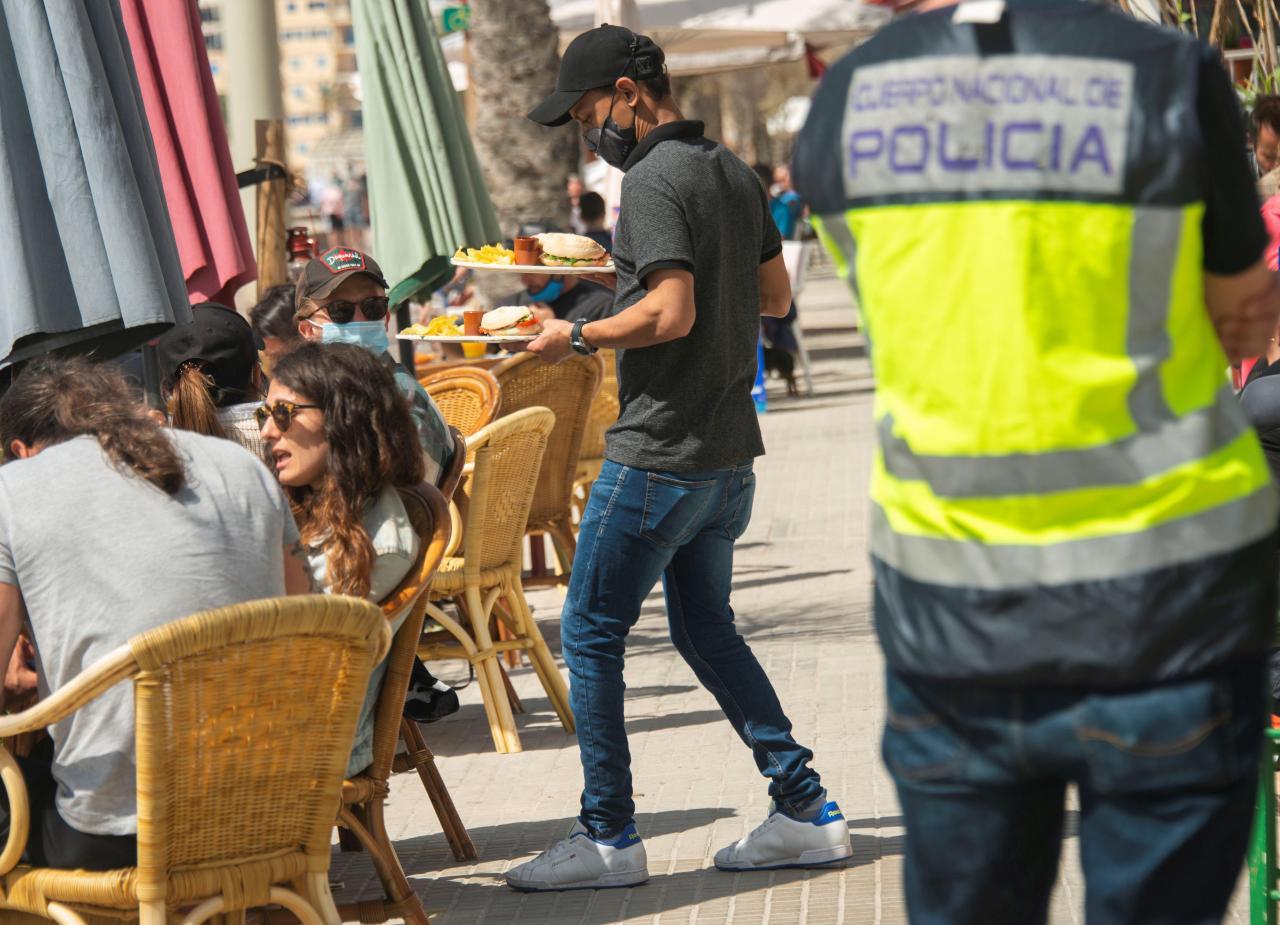 Controles en las terrazas de bares y restaurantes en Palma de Mallorca