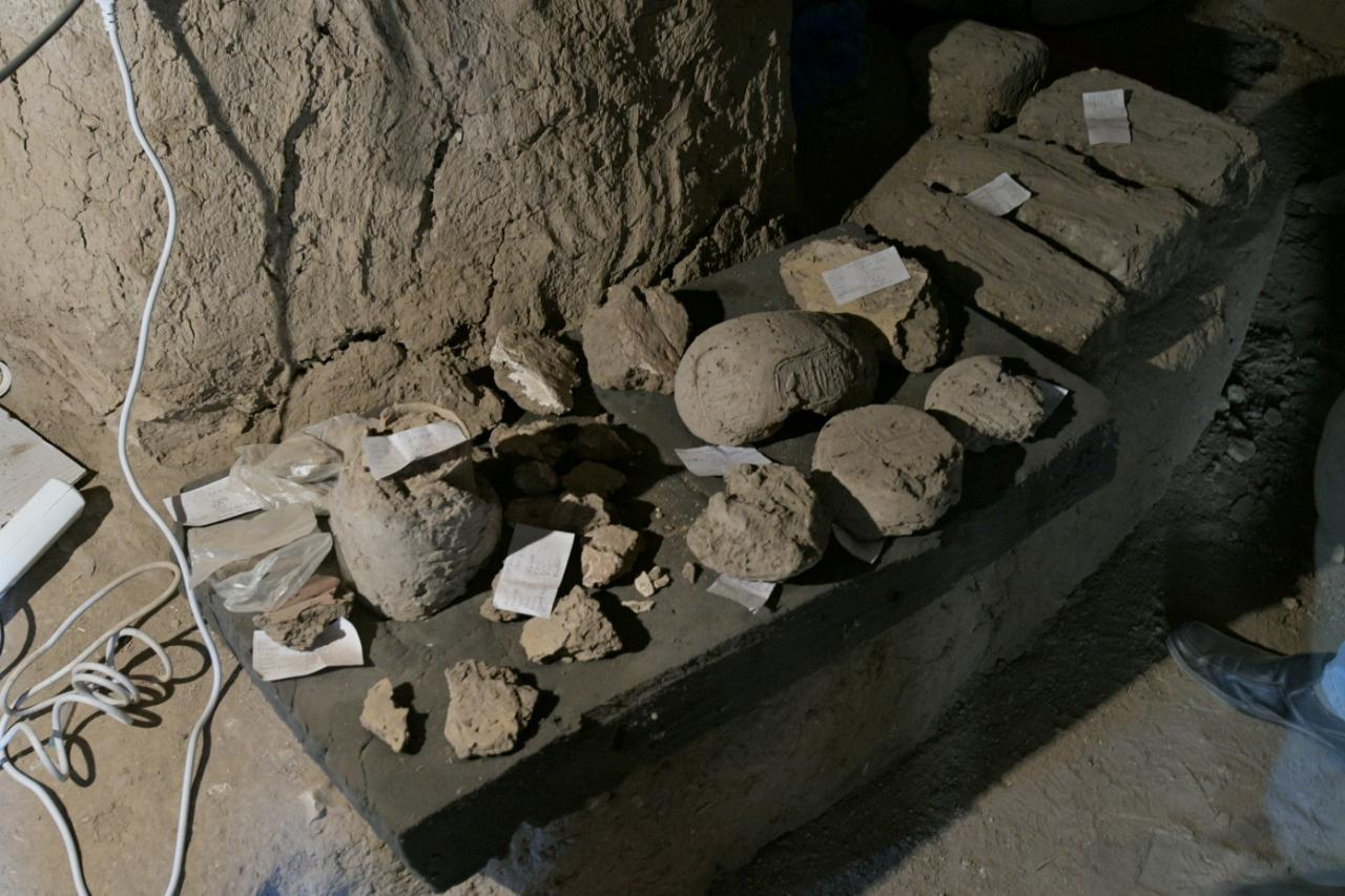 Archeological discoveries are seen in Luxor