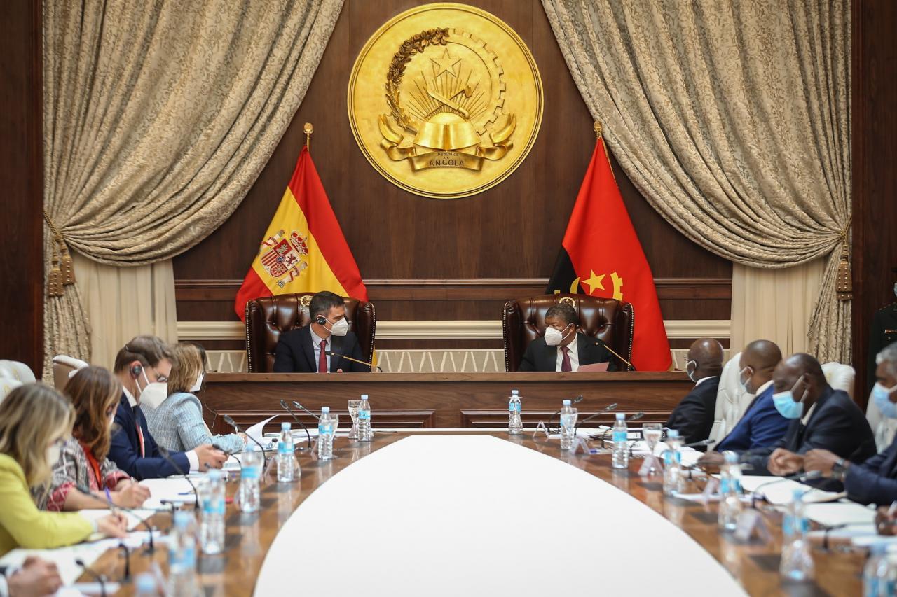 Spanish Prime Minister Pedro Sanchez visits Angola
