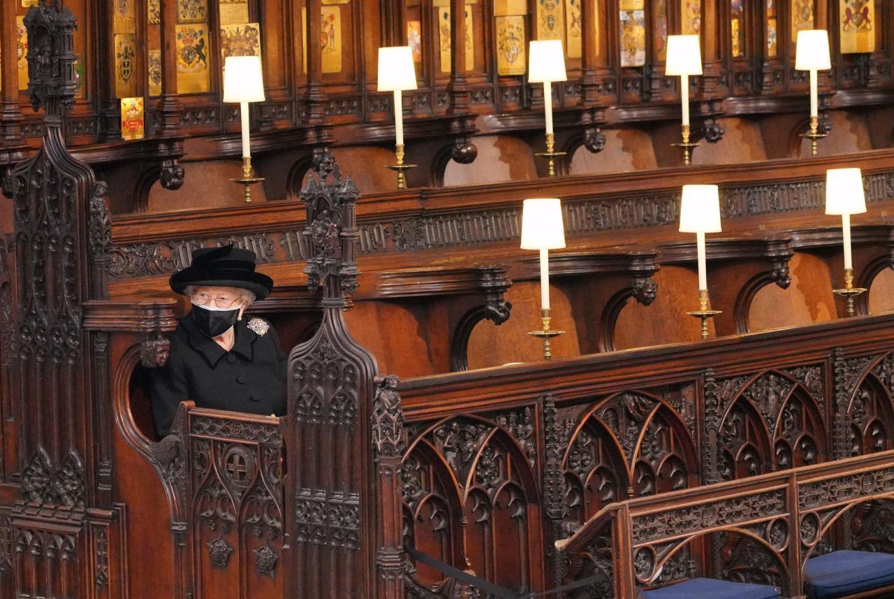 Emotivo funeral por el duque de Edimburgo en la capilla de San Jorge