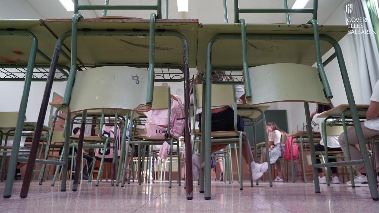 Nueva semana sin casos positivos entre los docentes de Baleares