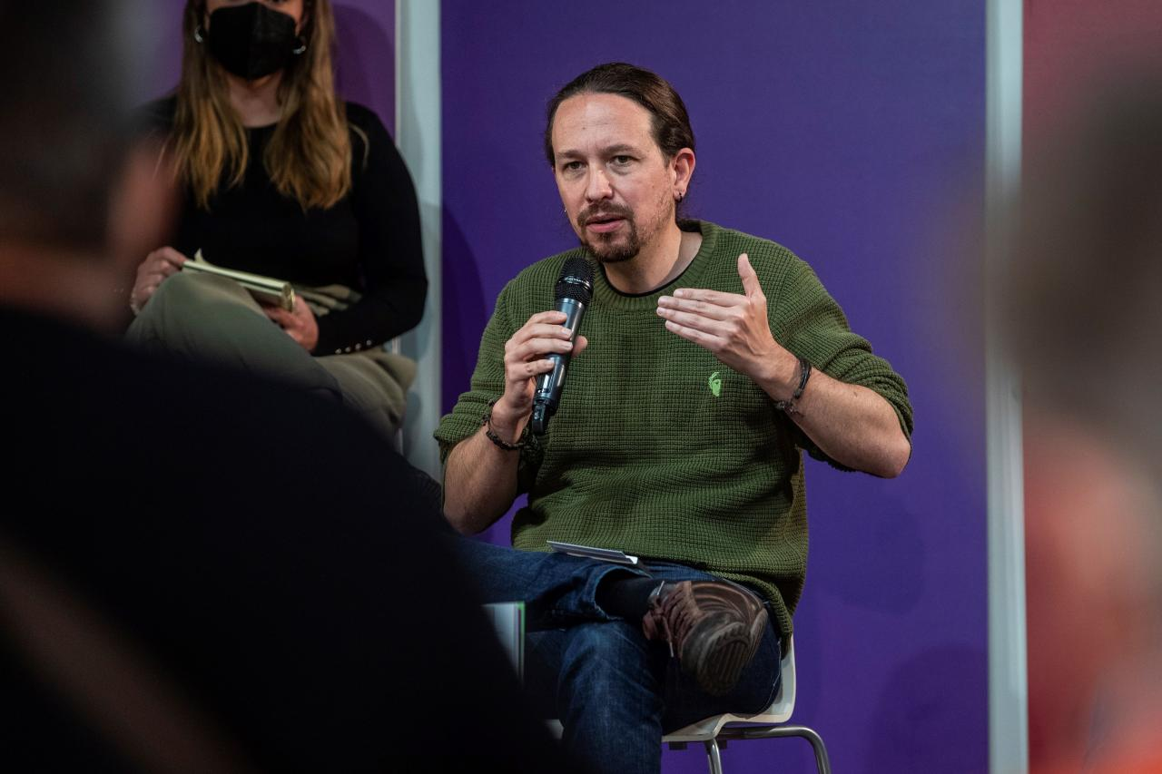 Pablo Iglesias presenta el programa de Podemos en Alcobendas