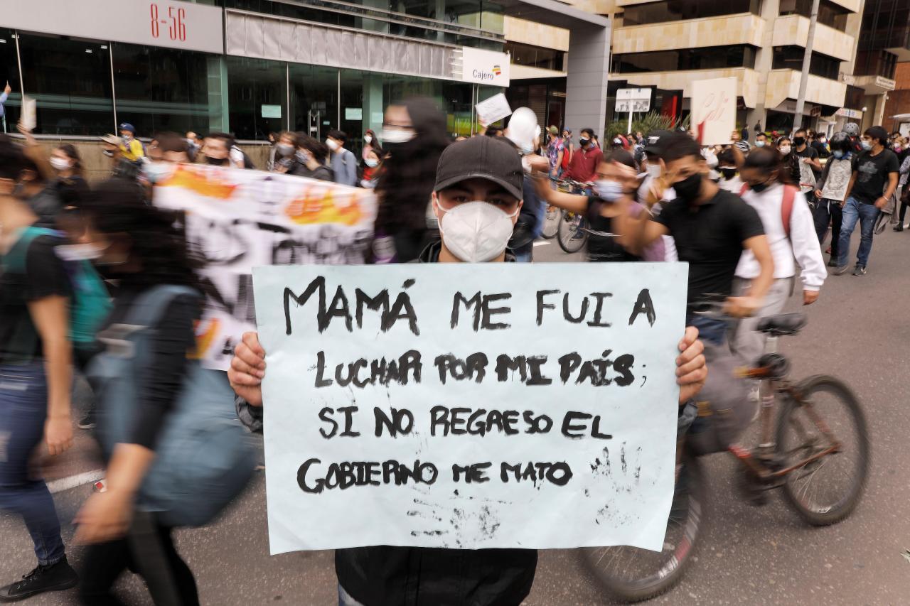 Colombianos siguen protestando contra el Gobierno de Duque