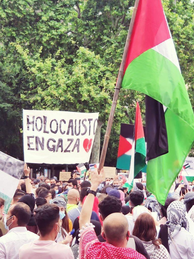 Unas 400 personas se manifiestan en Palma a favor del pueblo de Palestina y contra el estado de Israel