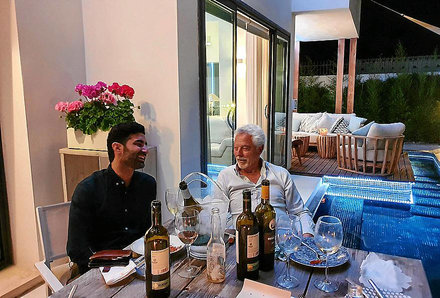 Cena de Magui Suárez e Ismael Sánchez