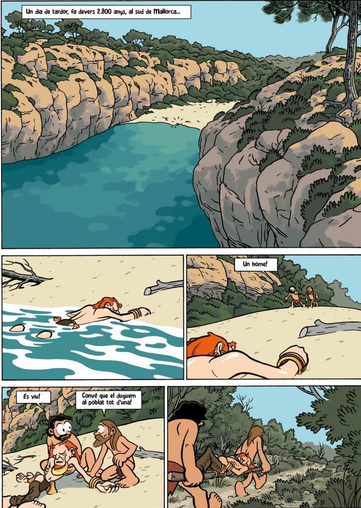La viñeta explora la Cova des Mussol de Menorca