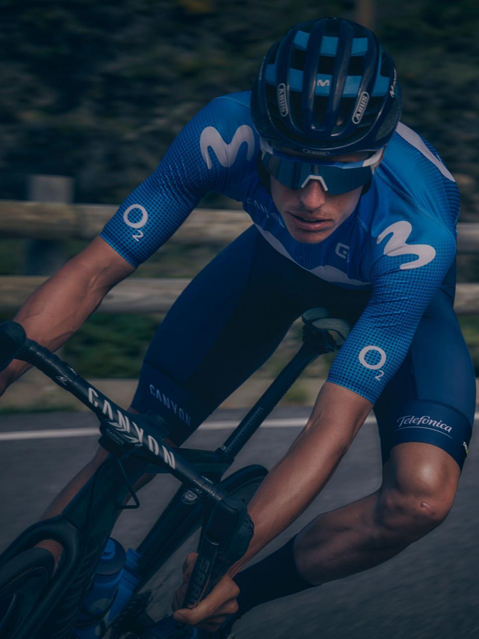 Enric Mas, al frente del Movistar en el Tour de Francia