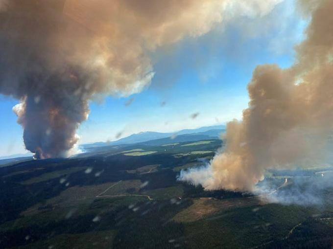 Fire in British Columbia, Canada